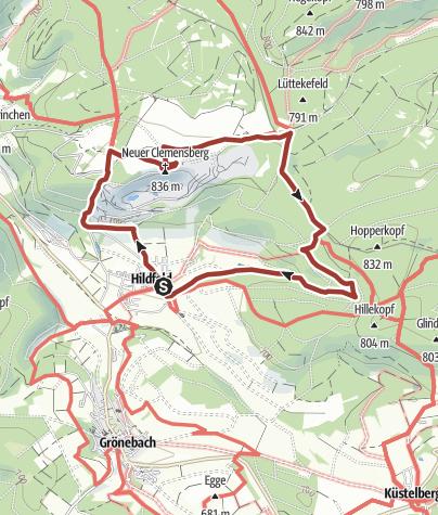 Karte / Extratour Hildfeld - Durch Hochwald und Heide, Start in Winterberg-Hildfeld