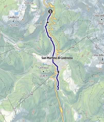 Karte / Torrente Alto Cismon A