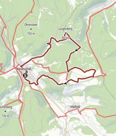 Karte / Höher geht's nicht - Grenzregion zwischen Westfalen und Waldeck, Start in Winterberg-Niedersfeld