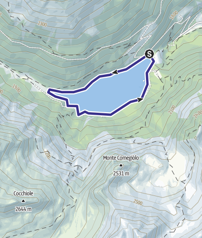 Map / Lago Pian Palù