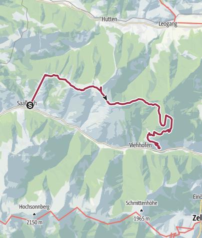 Karte / Saalachtaler Höhenweg - 4 Tag