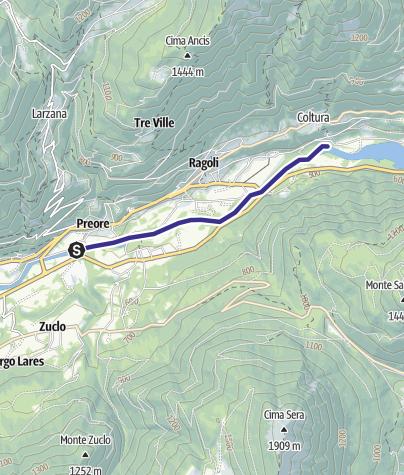 Cartina / Fiume Sarca dalla confluenza Torrente Arnò - Bacino Ponte Pià A1
