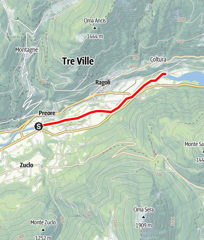 Carte / Fiume Sarca dalla confluenza Torrente Arnò - Bacino Ponte Pià A1