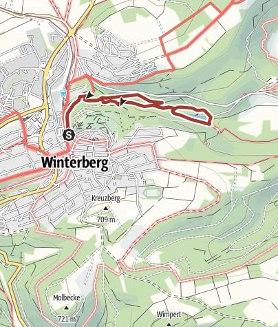 Karte / Sauerland Extrem - Winterberger Schluchten- und Brückenpfad, Start in Winterberg