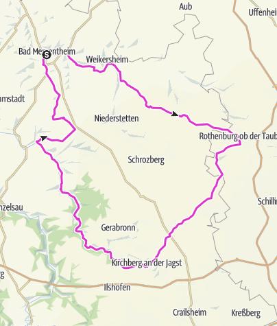 Karte / Bad Mergentheim - RR Tour 4 - Nach Rothenburg o.d.T.
