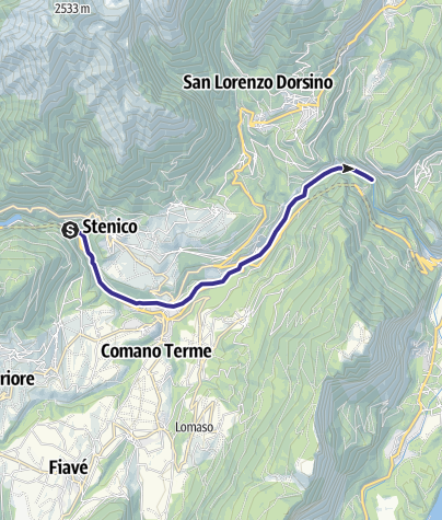 Cartina / Fiume Sarca dal Bacino di Ponte Pià - Bocche del Limarò A2