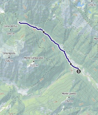 Cartina / Torrente Arnò dalla presa Enel alla confluenza con Torr. Fiana H