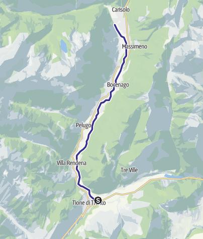 Karte / Fiume Sarca Tione-Pinzolo da confluenza Sarca Val Genova a confluenza Arnò B