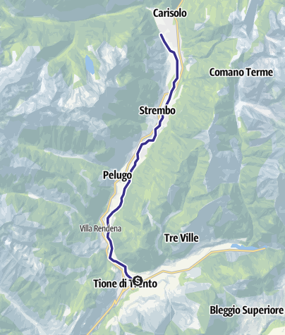 Mappa / Fiume Sarca Tione-Pinzolo da confluenza Sarca Val Genova a confluenza Arnò B