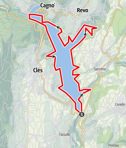 Mapa / Lago Santa Giustina A