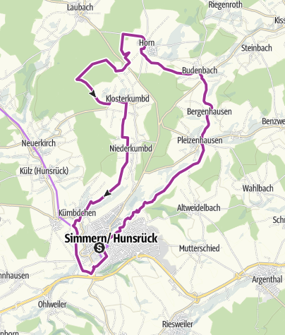 Karte / Radweg Römer Ritter Klosterfrauen