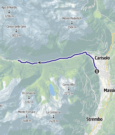 Karte / Sarca di Val Genova basso G1
