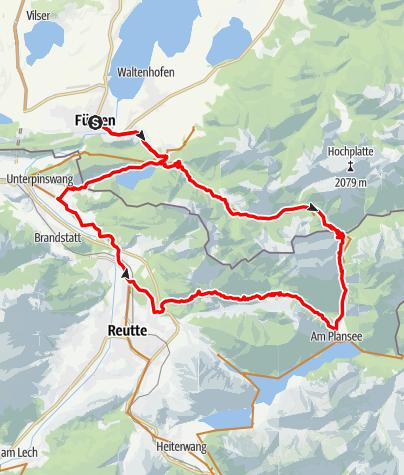 Karte / Alpsee-Plansee-Runde