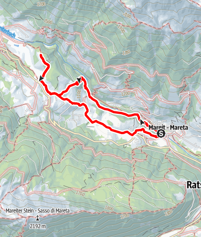 Map / Hiking tour gorge Achenrainschlucht