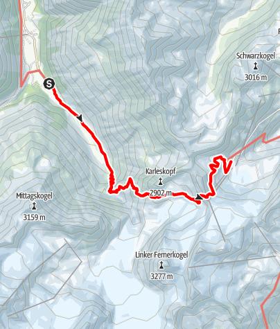 Map / Über die Gletscherwelt Pitztal-Ötztal - Rettenbachjoch