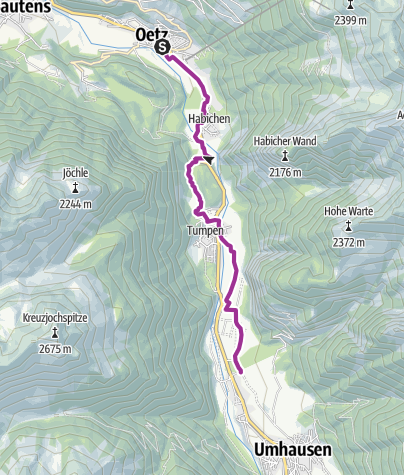 Map / Ötztal Cycling Path Stage 2: Oetz - Umhausen