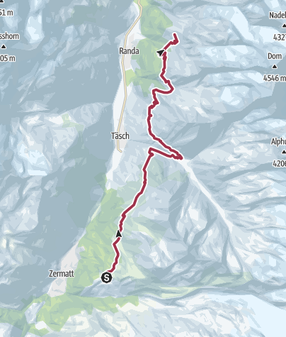 Map / Sunnegga to Europa Hut