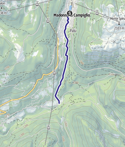 Map / Fiume Sarca di Campiglio da origini a confluenza Sarca di Val Genova C
