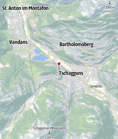 Karte / Ferienwohnung Tschagguns