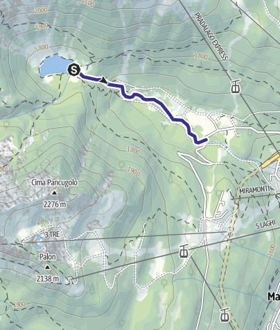 Cartina / Fiume Sarca di Campiglio da origini a confluenza Sarca di Val Genova C