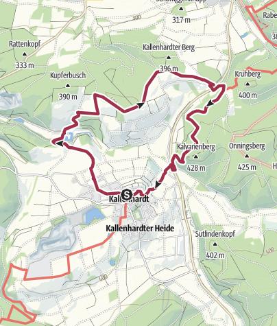 """Cartina / Die """"Schloss-Route"""" in und um Kallenhardt"""