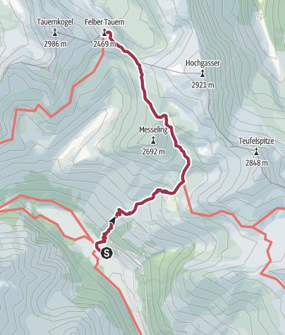 Karte / Hohe Tauern - Etappe 1
