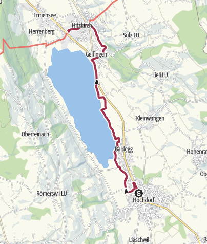 Karte / Hochdorf - Baldeggersee - Hitzkirch