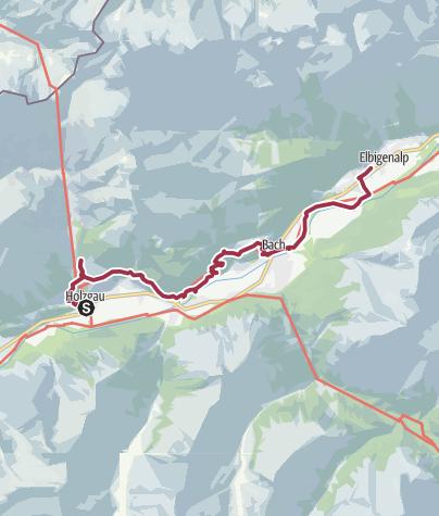 Map / Walk to Elbigenalp