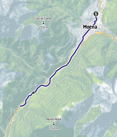 Karte / Torrente Avisio A - Moena