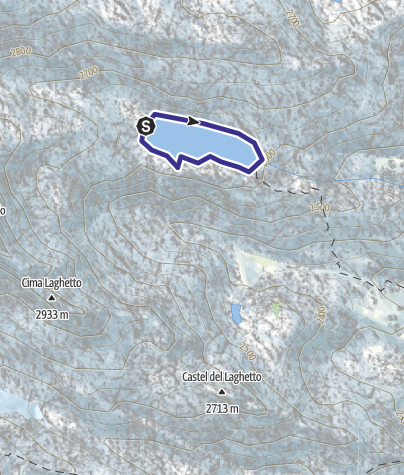 Mappa / Lago Vedretta X
