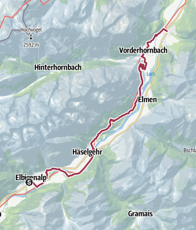 Cartina / Walk to Stanzach