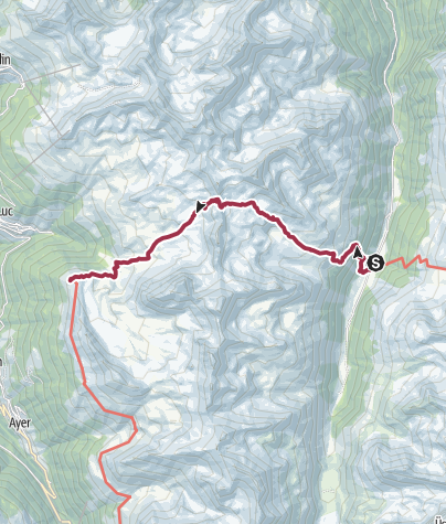 Map / Gruben to Hotel Weisshorn