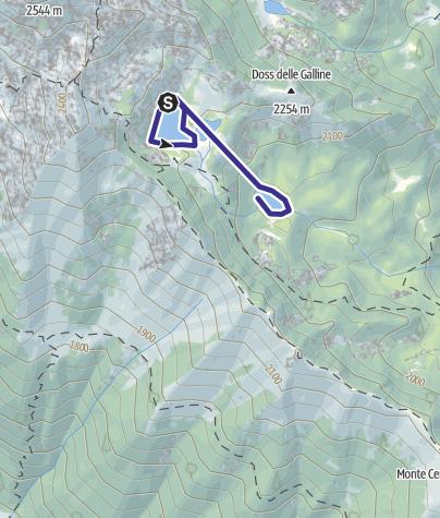 Cartina / Laghi di Valbona W