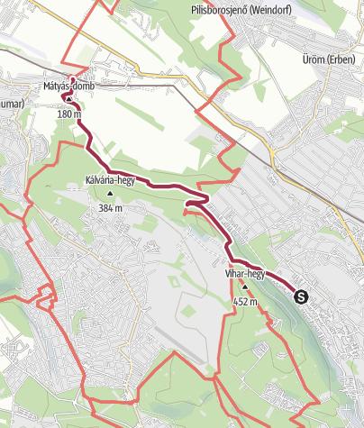 Térkép / Óbudáról a solymári Szarkavárhoz