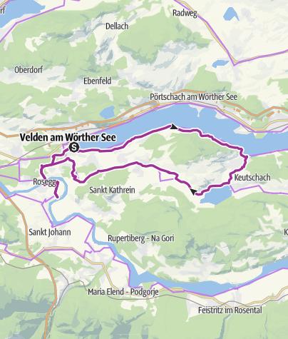 Karte / Wörthersee Sightseeing Radtour in Kärnten