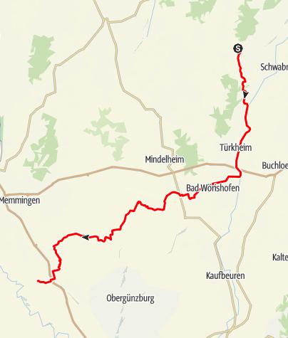 Karte / Jakobus-Pilgerweg Ost