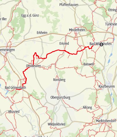 Karte / Kneipp-Wanderweg Bad Wörishofen - Bad Grönenbach