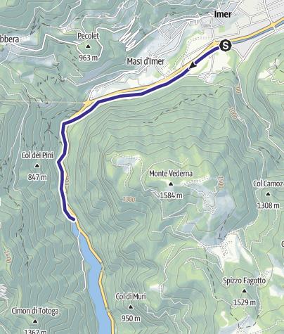 Karte / Torrente Cismon Basso B3