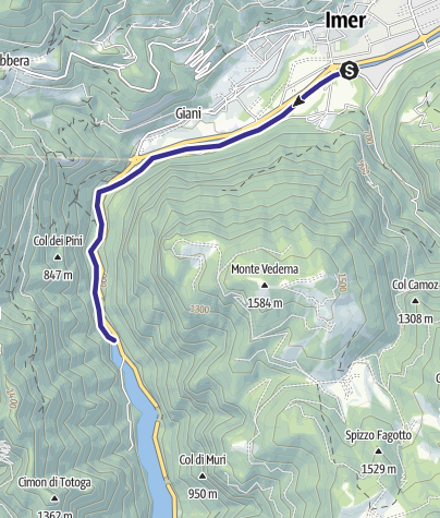 Mappa / Torrente Cismon Basso B3