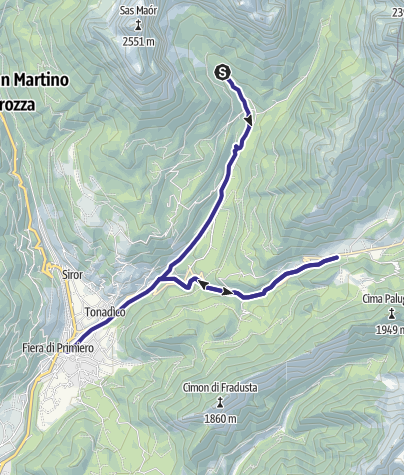 Mappa / Torrente Canali e Cereda C