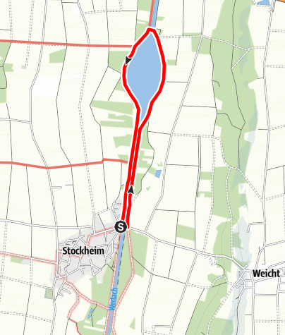 Karte / Naturlehrpfad an der Wertach