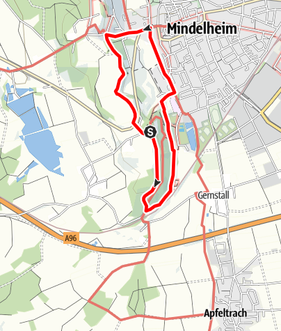 Karte / Rund um die Mindelburg