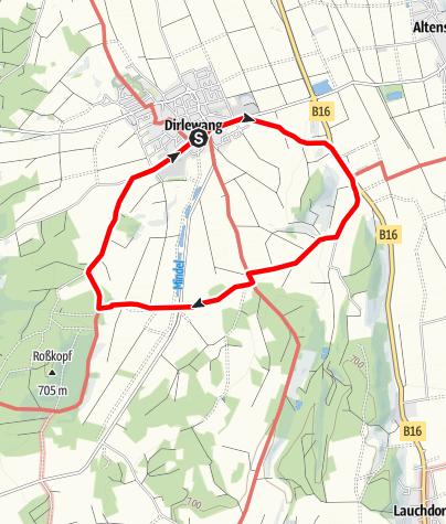 Karte / Dirlewanger-Runde