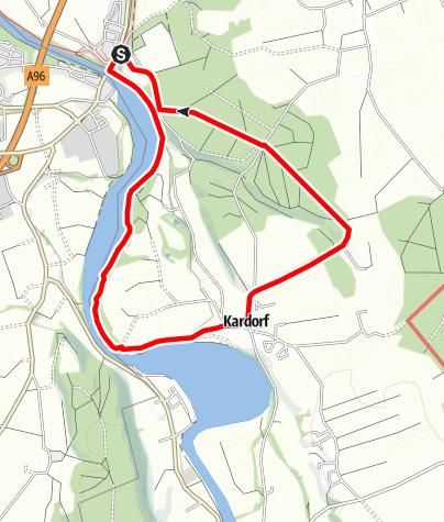Karte / Illerstausee Runde