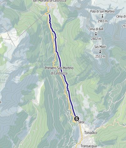Karte / Torrente Cismon X2