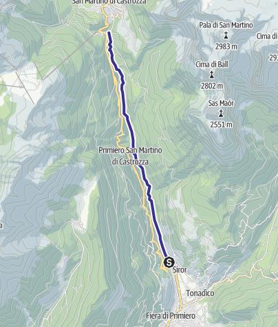 Mappa / Torrente Cismon X2