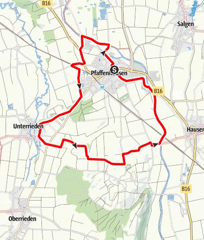 Karte / Rund um Pfaffenhausen