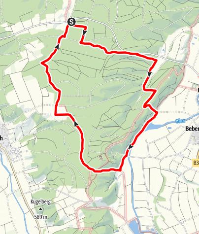 Karte / Oberrother Wald Runde