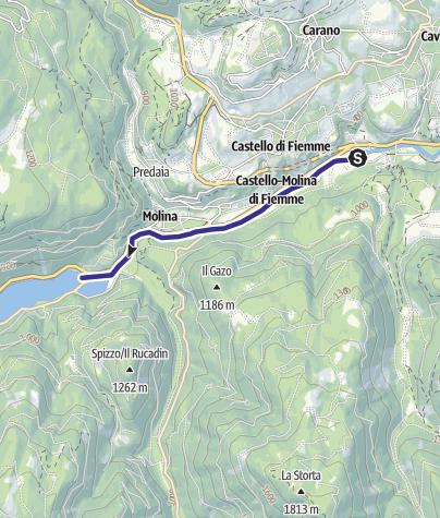 Map / Torrente Avisio A - Castello Molina di Fiemme