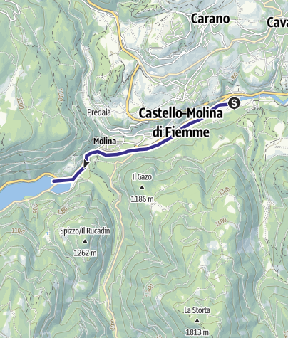 Karte / Torrente Avisio A - Castello Molina di Fiemme